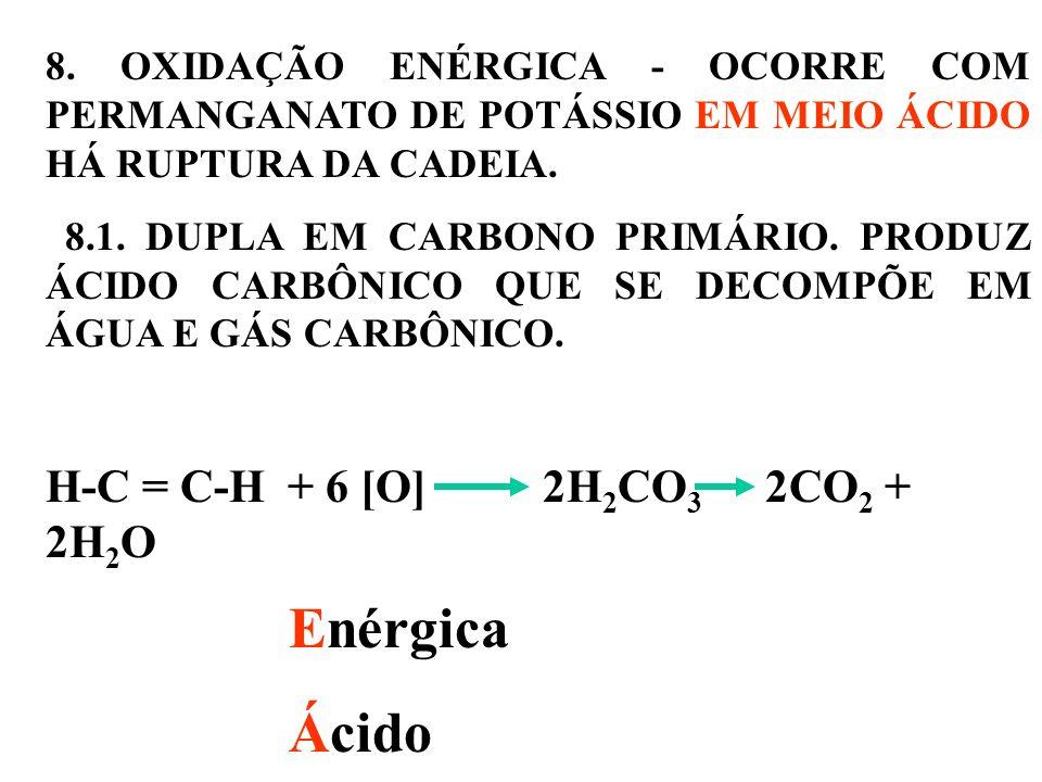 Enérgica Ácido H-C = C-H + 6 [O] 2H2CO3 2CO2 + 2H2O